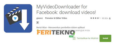 download video di facebook dari hp - feri tekno