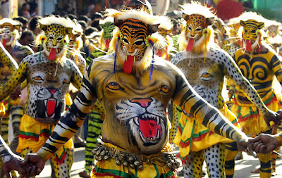 Puli Kali (Tiger dance) dance performed in Kerala during Onam festival