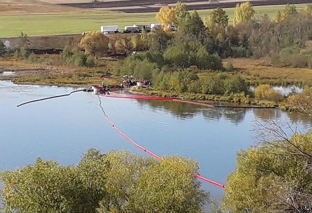 В Башкирии произошел порыв нефтепровода