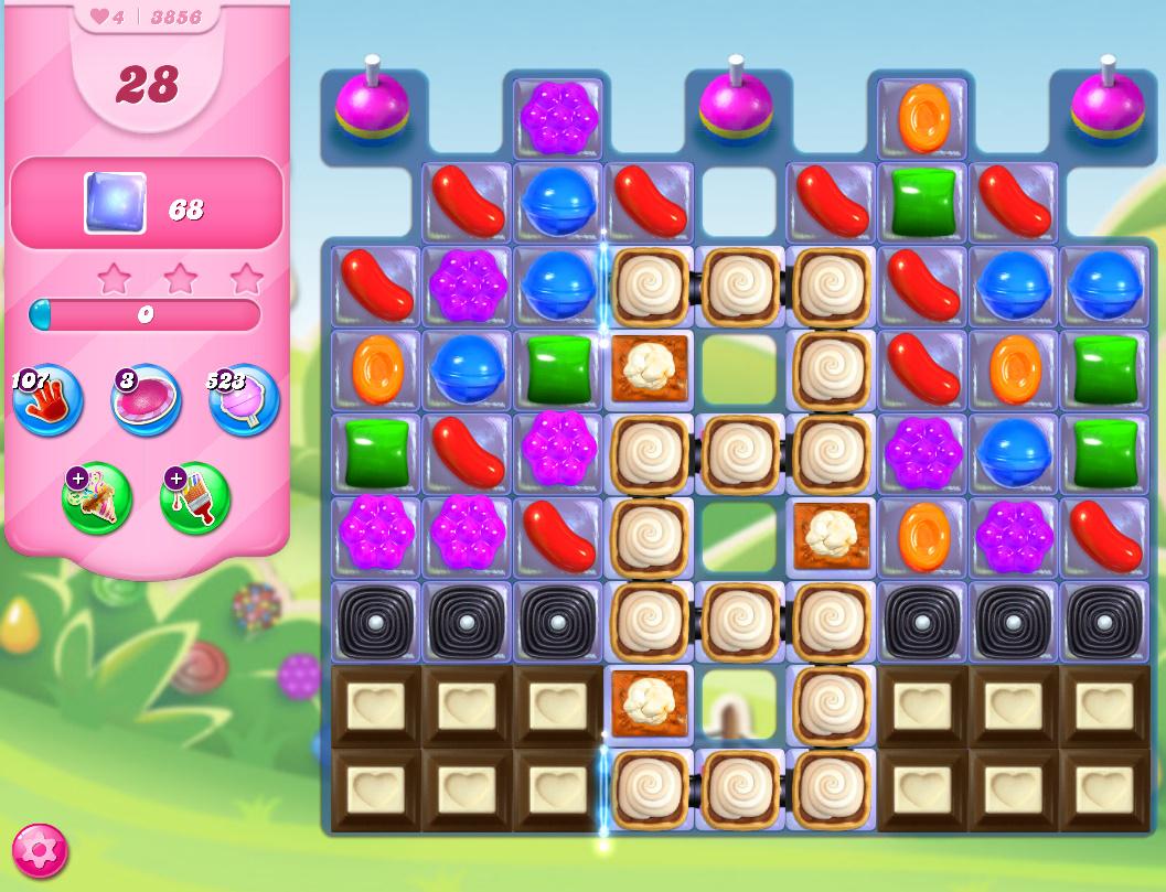 Candy Crush Saga level 3856