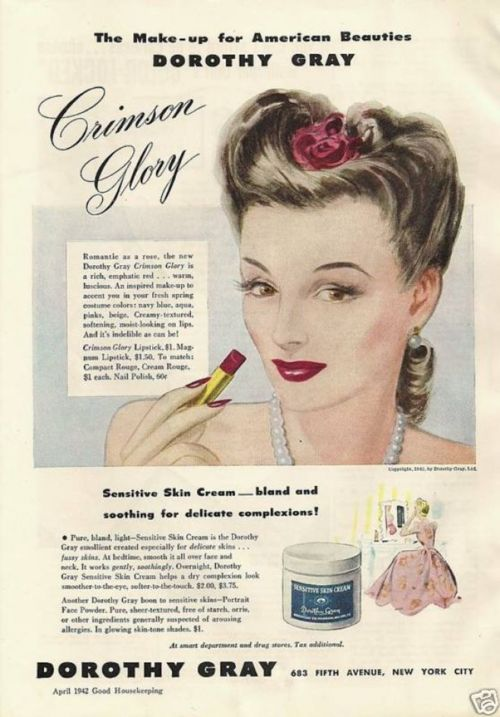 Vintage Gal: Makeup Ads From The 40's