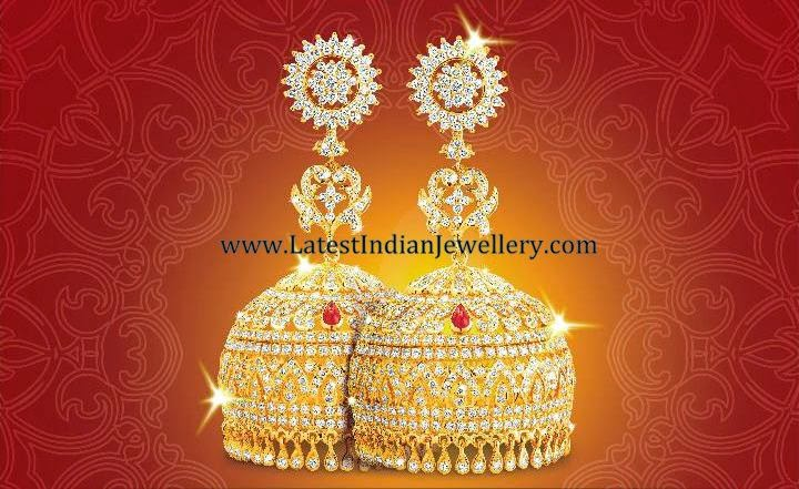 nalli Diamond Jhumka Design