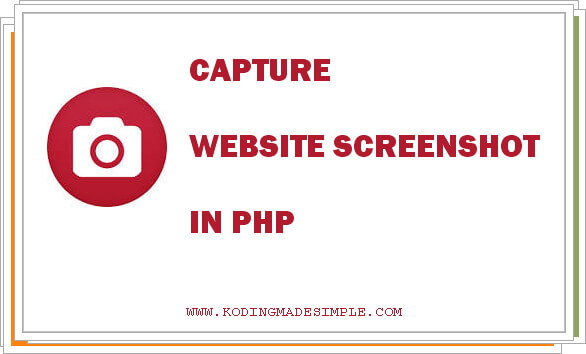 take screenshot of webpage in php