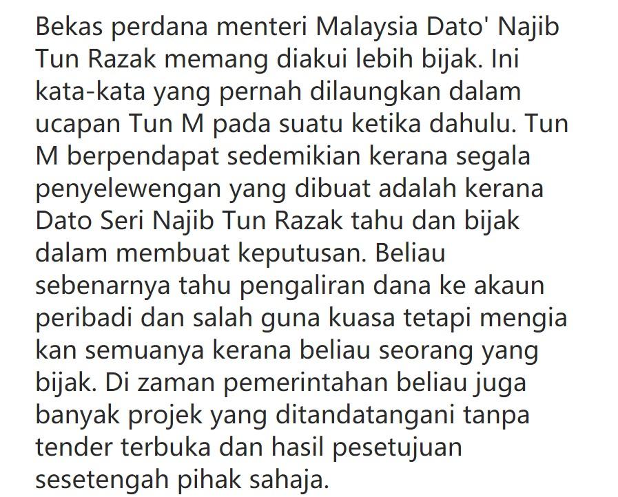 Najib Memang Lebih Bijak Dari Saya Tun M Akui Bussines Melayu