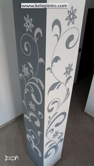 Ernesto arag n pintura para el hogar una idea para - Como decorar una columna en el salon ...
