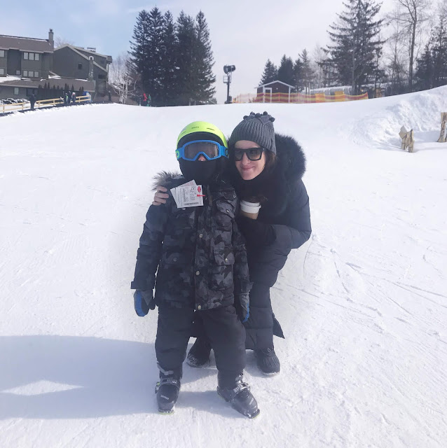 skiing with kids