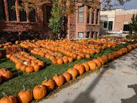 A church lawn becomes a pumpkin patch