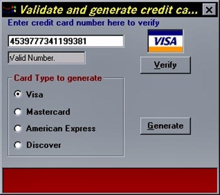 Generate Master Card Generate Credit Card Numbers that