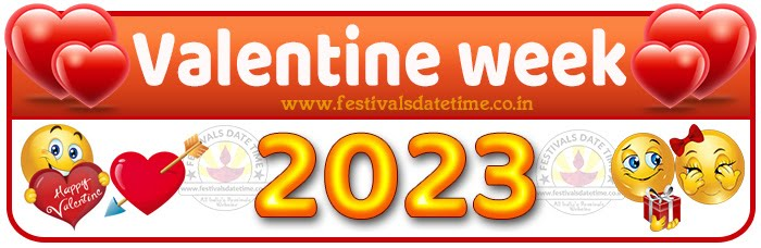 2023 Valentine Week List Calendar, 2023 Valentine Day All Dates & Day