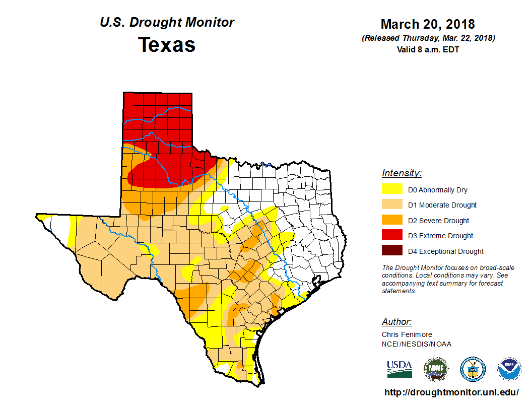 the moderate drought category with areas of severe drought now across eastern travis county western bastrop county caldwell hays and comal counties