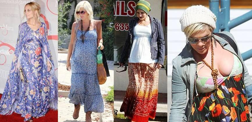 f1590dd76e Evan Rachel Wood   11 Celebrities who Rocked the Boho Chic Maternity Style