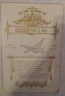 Ethel G Doty's Memorial Card
