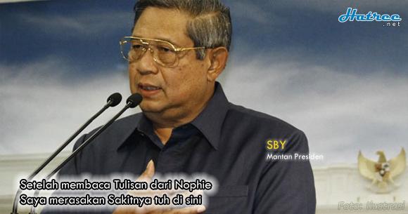 Tulisan Nophie ini Tampar Wajah SBY dianggap Tak bisa Move on