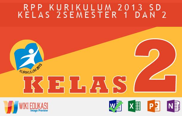 RPP KURIKULUM 2013 SD KELAS 2 SEMESTER 1 - Aku dan Sekolahku Hasil Revisi Terbaru