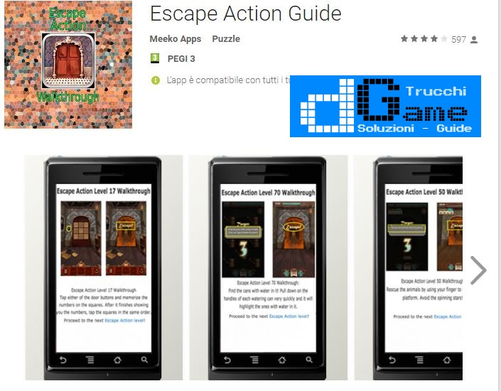 Soluzioni Escape Action livello 41-42-43-44-45-46-47-48-49-50 | Trucchi e Walkthrough level
