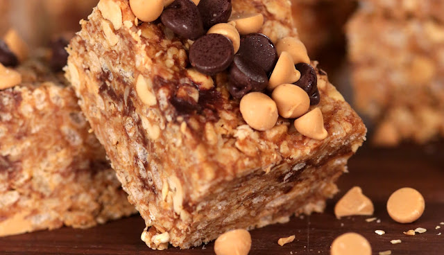 No-Bake Rice Krispies Peanut Butter Granola Bars , 6 smart points