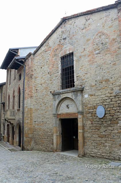 Oratorio de San Giacomo. Castell'Arquato, Piacenza, Italia