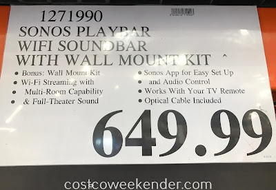 Deal for the Sonos Playbar soundbar at Costco
