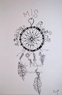 lola mento ilustraciones, cuadros decorativos, lola mento, ilustraciones, cuadros originales, lolamento atrapasueños ilustrados