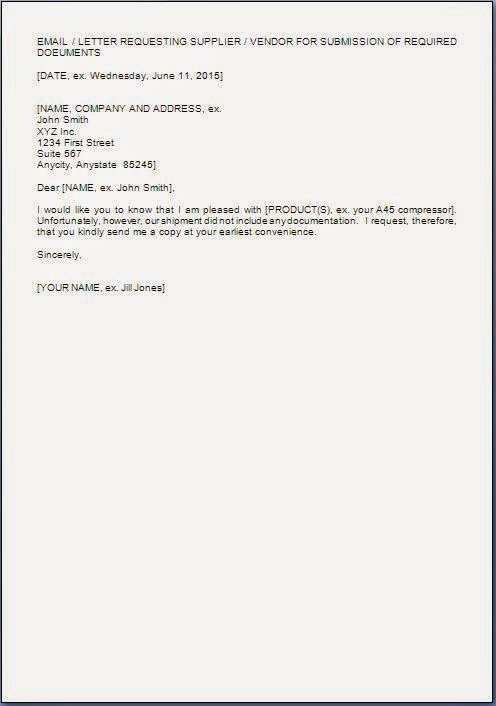 Request Letter For Document