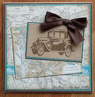 Handmade travel greeting card