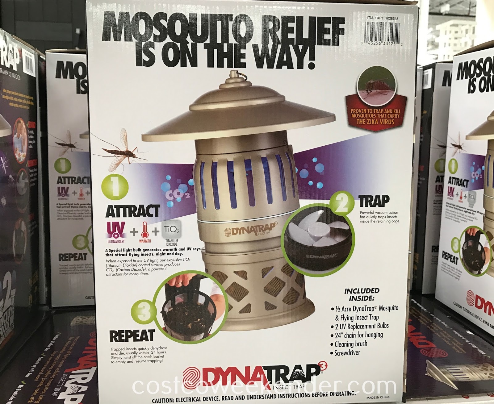 Costco 1028588 - DynaTrap Insect Trap (DT1050-CST-DEC): great during dusk and the summer