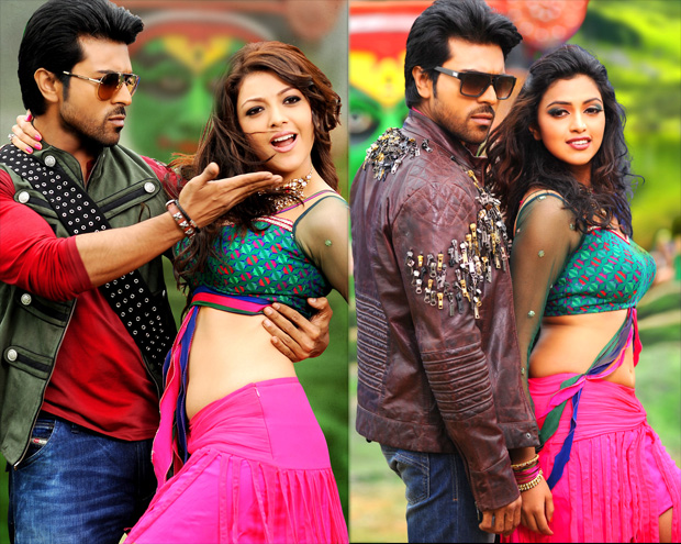 Amala paul kajal agarwal sexy Navel Images from the Movie Naayak