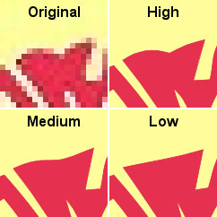 impact of the quality level setting on the shape boundaries