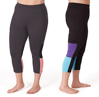 plus size color block capris