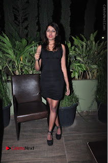 Actress Kavya Kumar Stills in Black Short Dress at F Club pre soft Launch  0031.JPG