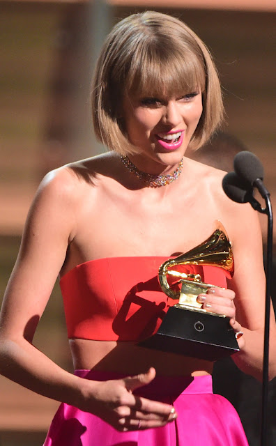 List of the winners in main categories at the 58th Grammy Awards Taylor Swift