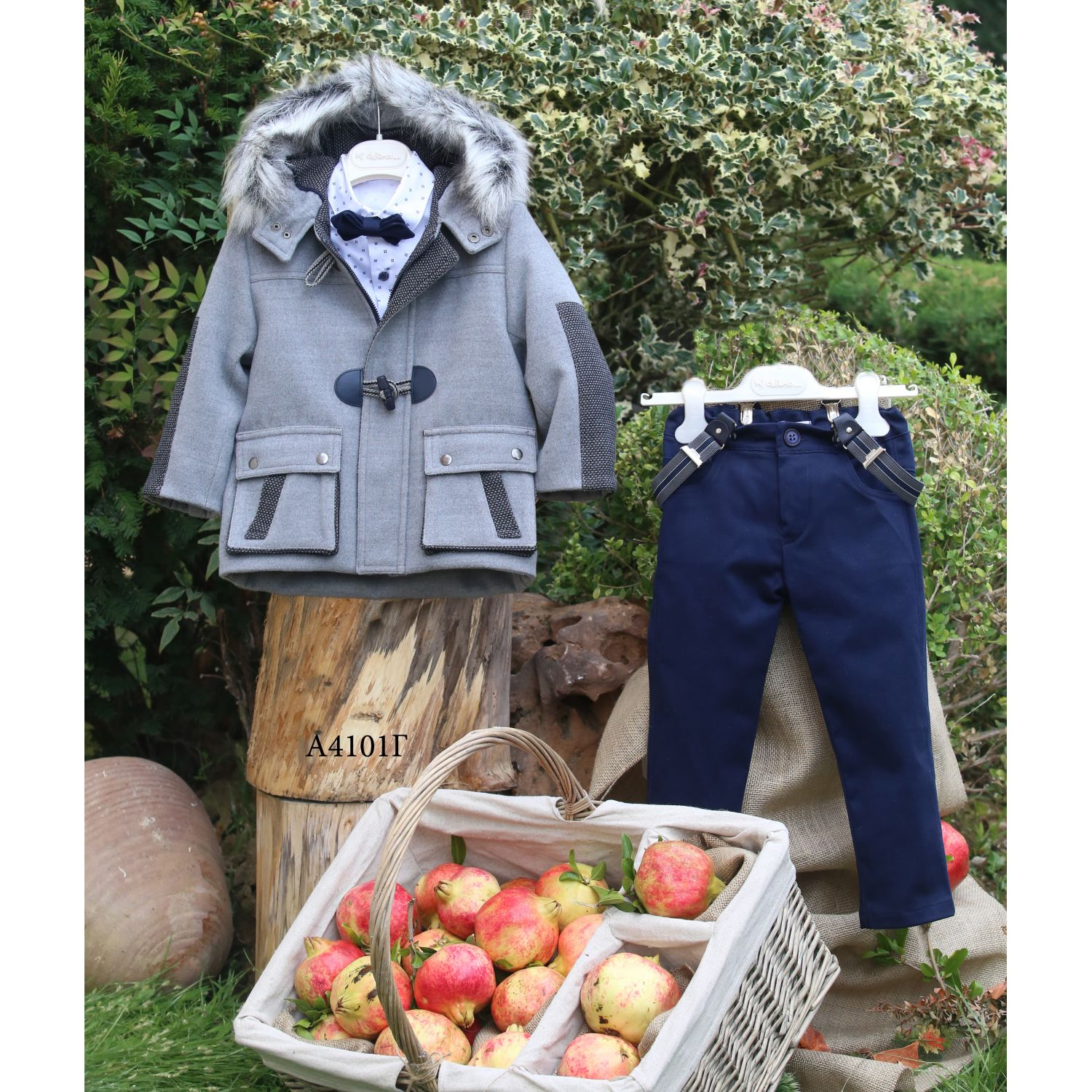 Baptismal winter clothes for boys A4101