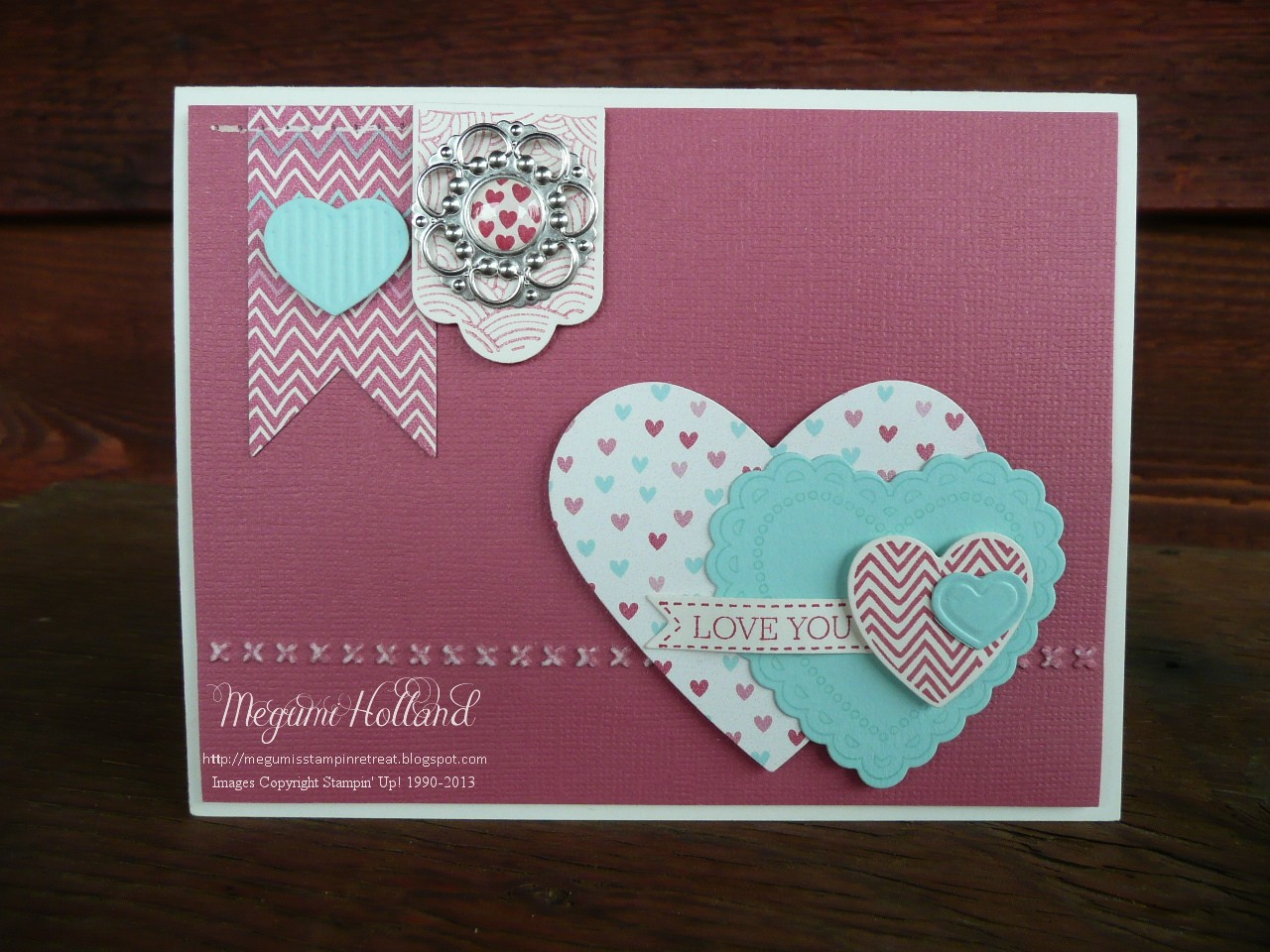 Megumi's Stampin Retreat: Hearts a Flutter Love You Card