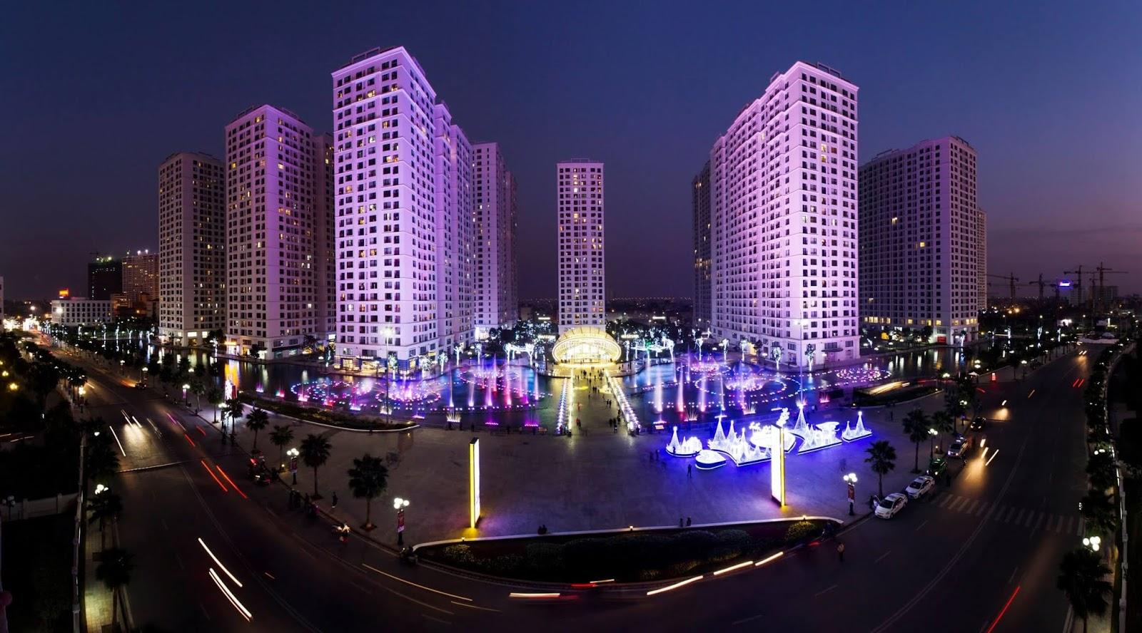 Khu nhạc nước của Times City Minh Khai