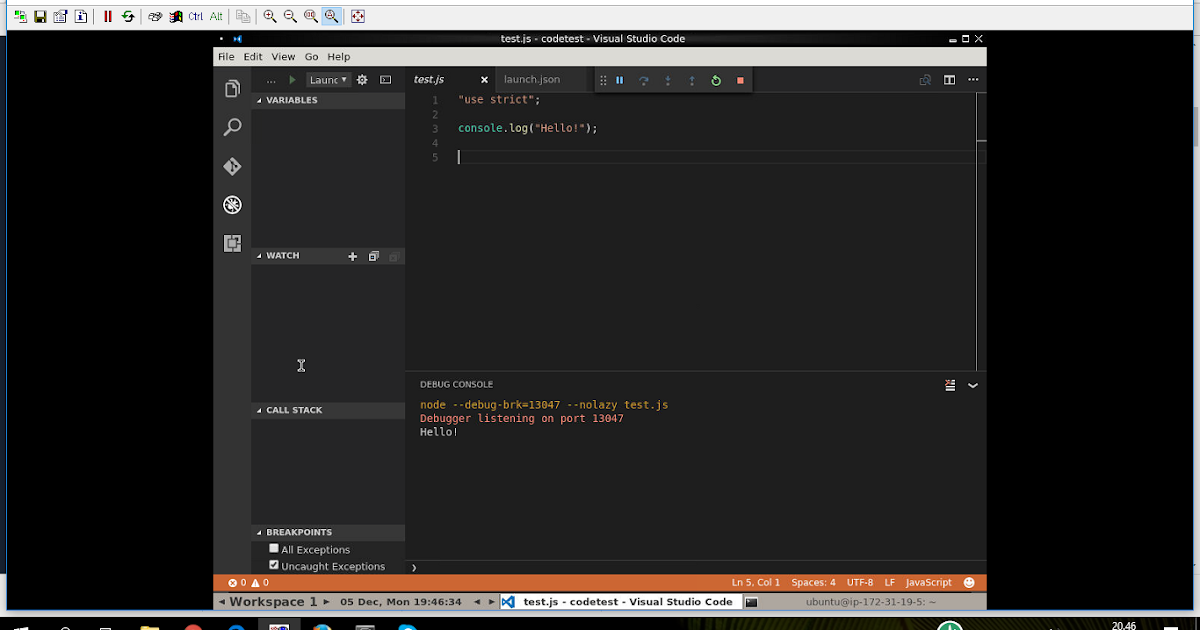 My VNC based development environment with Visual Studio Code