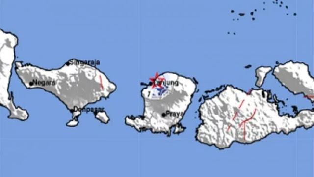 Malam Ini, Lombok Utara Diguncang Dua Kali Gempa