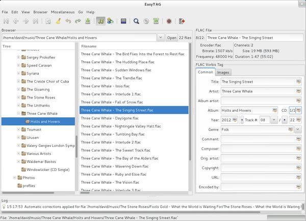 EasyTAG - Δωρεάν πρόγραμμα για εύκολη επεξεργασία των ετικετών στα MP3 σου