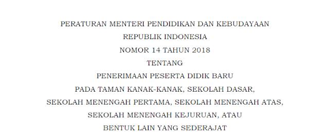 Juknis PPDB Tahun 2018