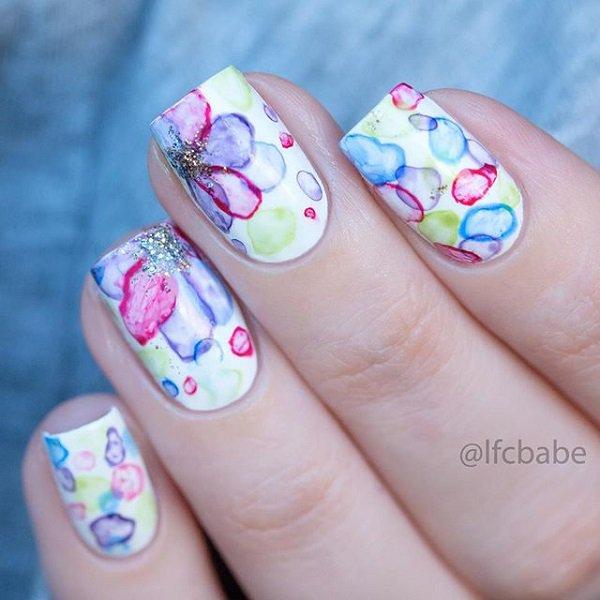 7 Watercolor Nail Art Ideas Non Stop Fashions
