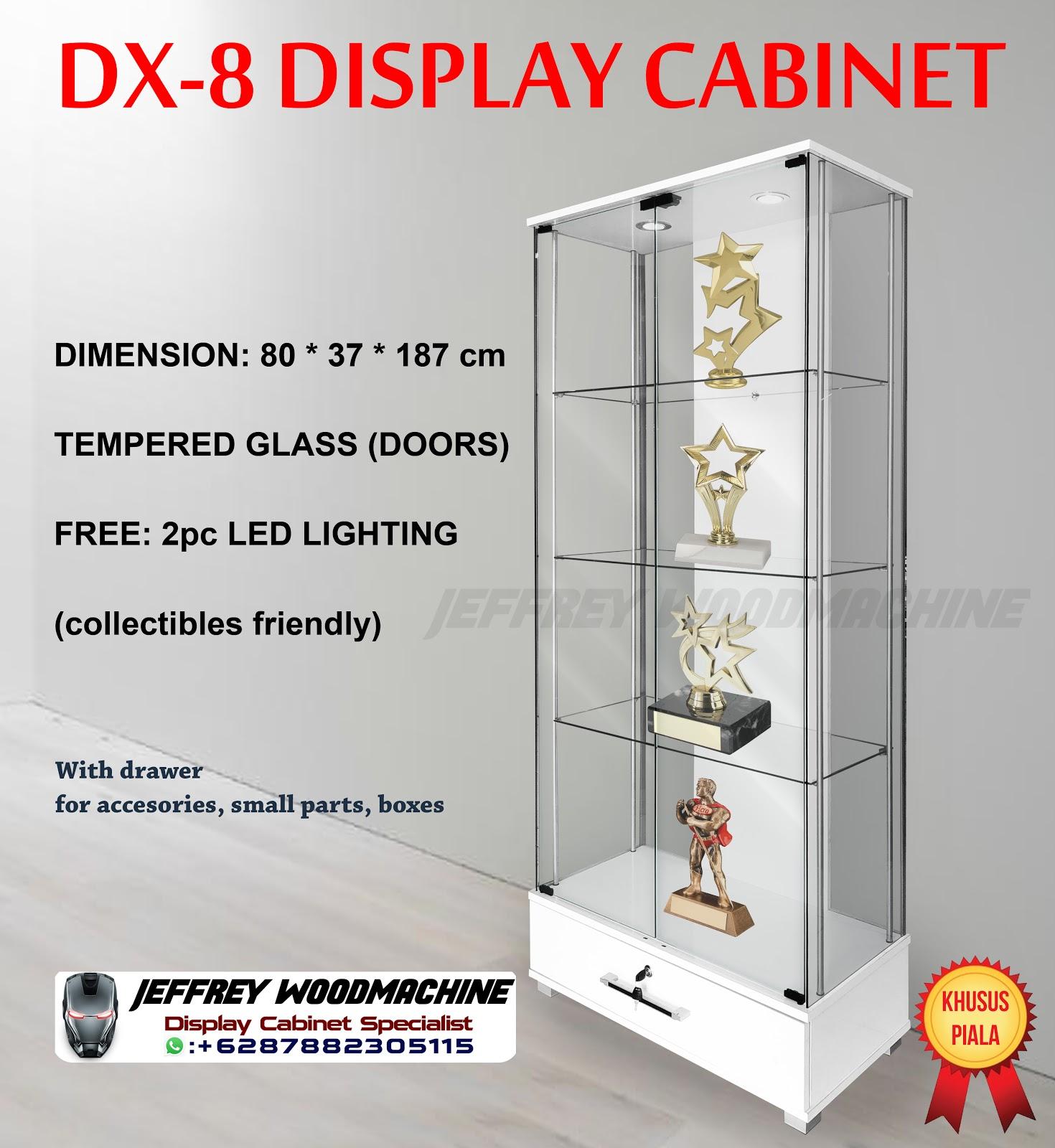 lemari rak pajang kaca showcase display cabinet minimalis dx8 dx-8 a0ffc2598f