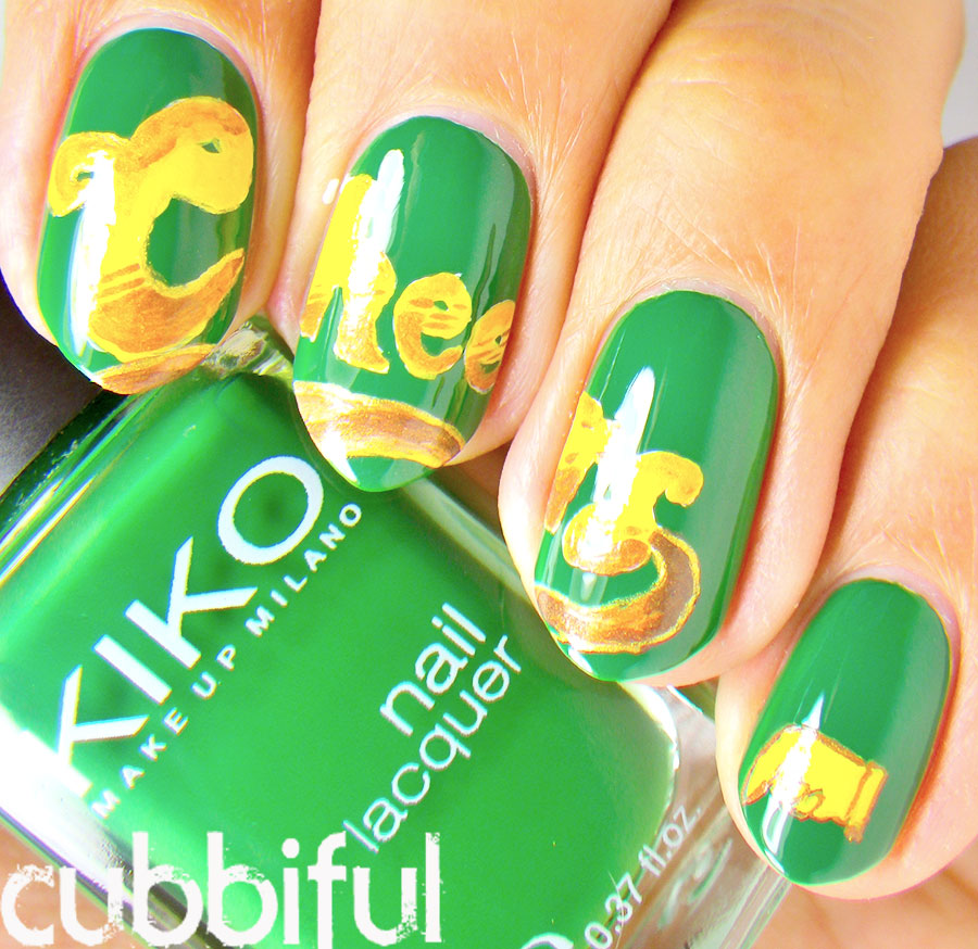 Cubbiful cheers tv show nail art cheers tv show nail art prinsesfo Choice Image