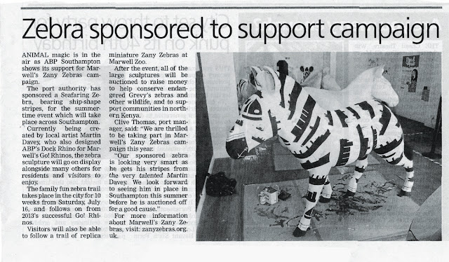 sea faring Zebra ABP art Davey newspaper