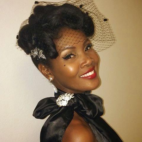 Estilo Pin-up para Negras: maquiagem e batom vermelho