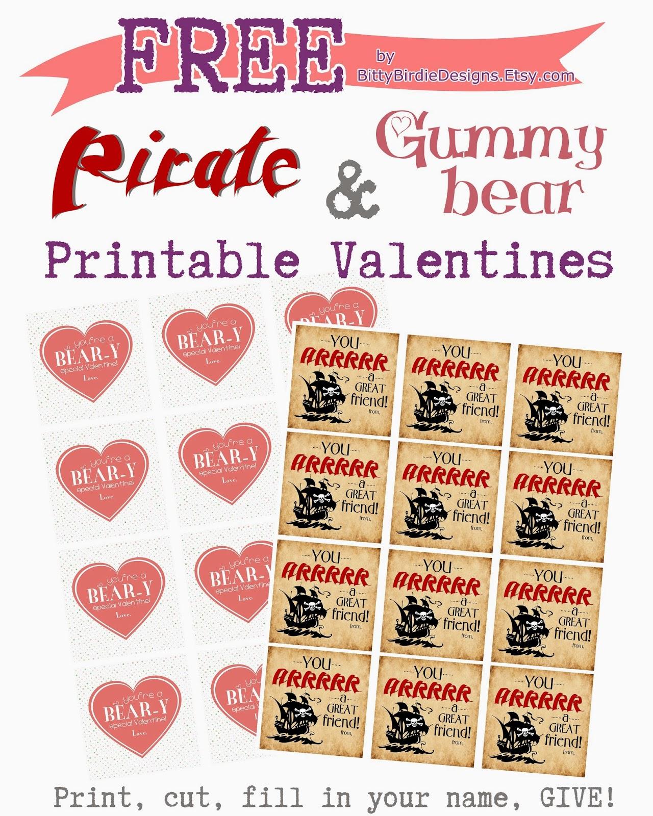 Bitty Birdesign Co Free Children S Valentines Printables