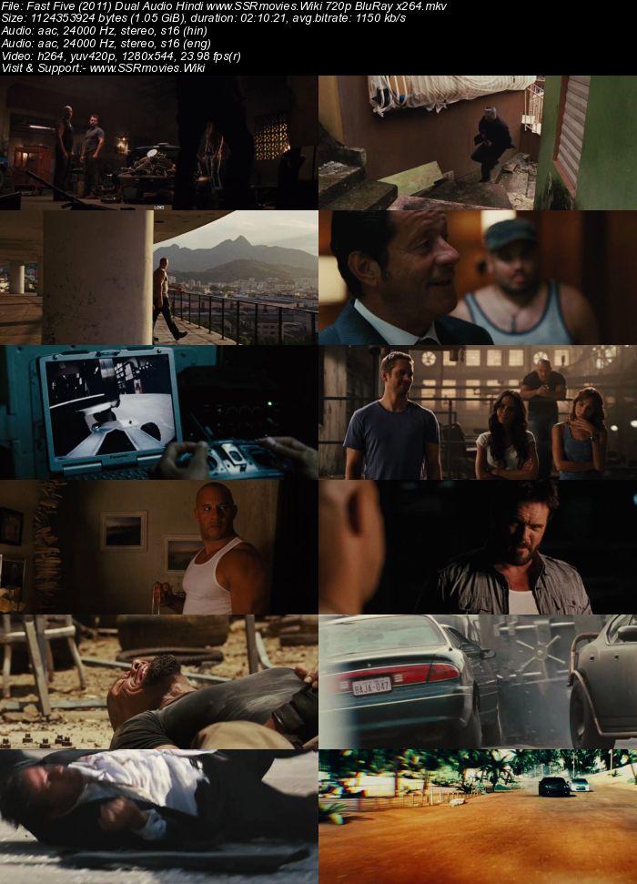 Fast Five (2011) Dual Audio Hindi 720p BluRay x264 1GB Movie Download