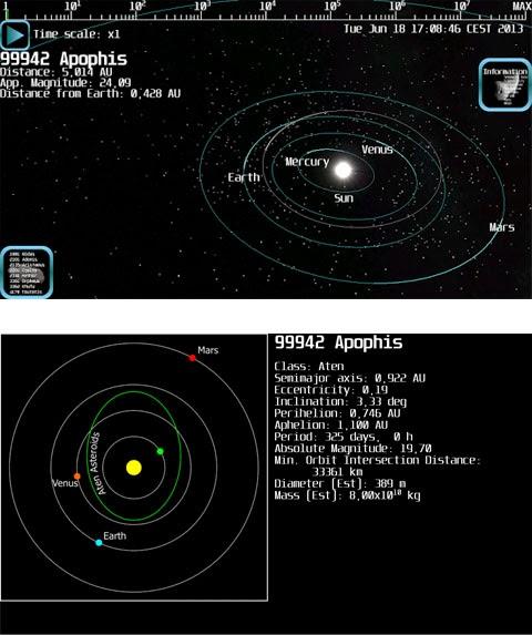aplicativo que mostra asteroides próximos da Terra- ASTEROID WATCH