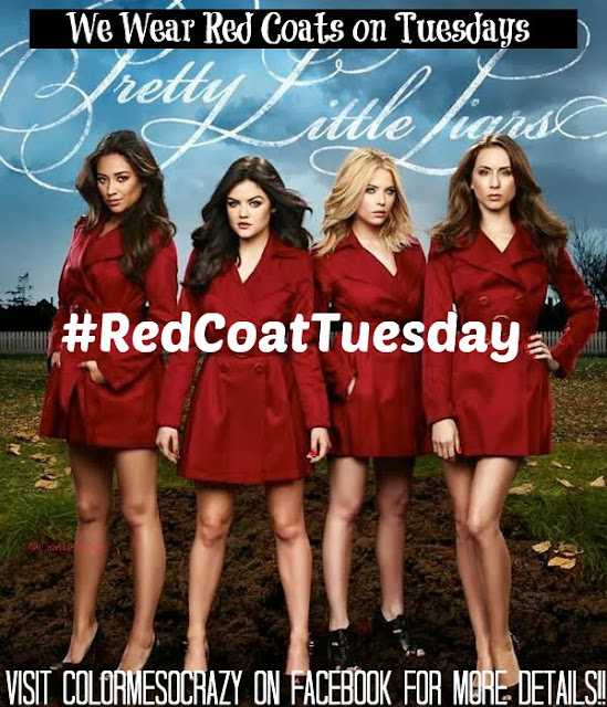 pretty little liars, red coat tuesday nails, red coat tuesday, hits polish, esmaltes da kelly, sinful colors, rica, indie polish, red polish