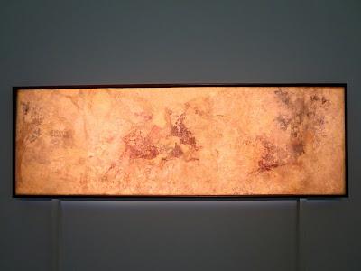 """Фресковоя роспись """"Охота на вепря"""", 2-3 века, до реставрации"""