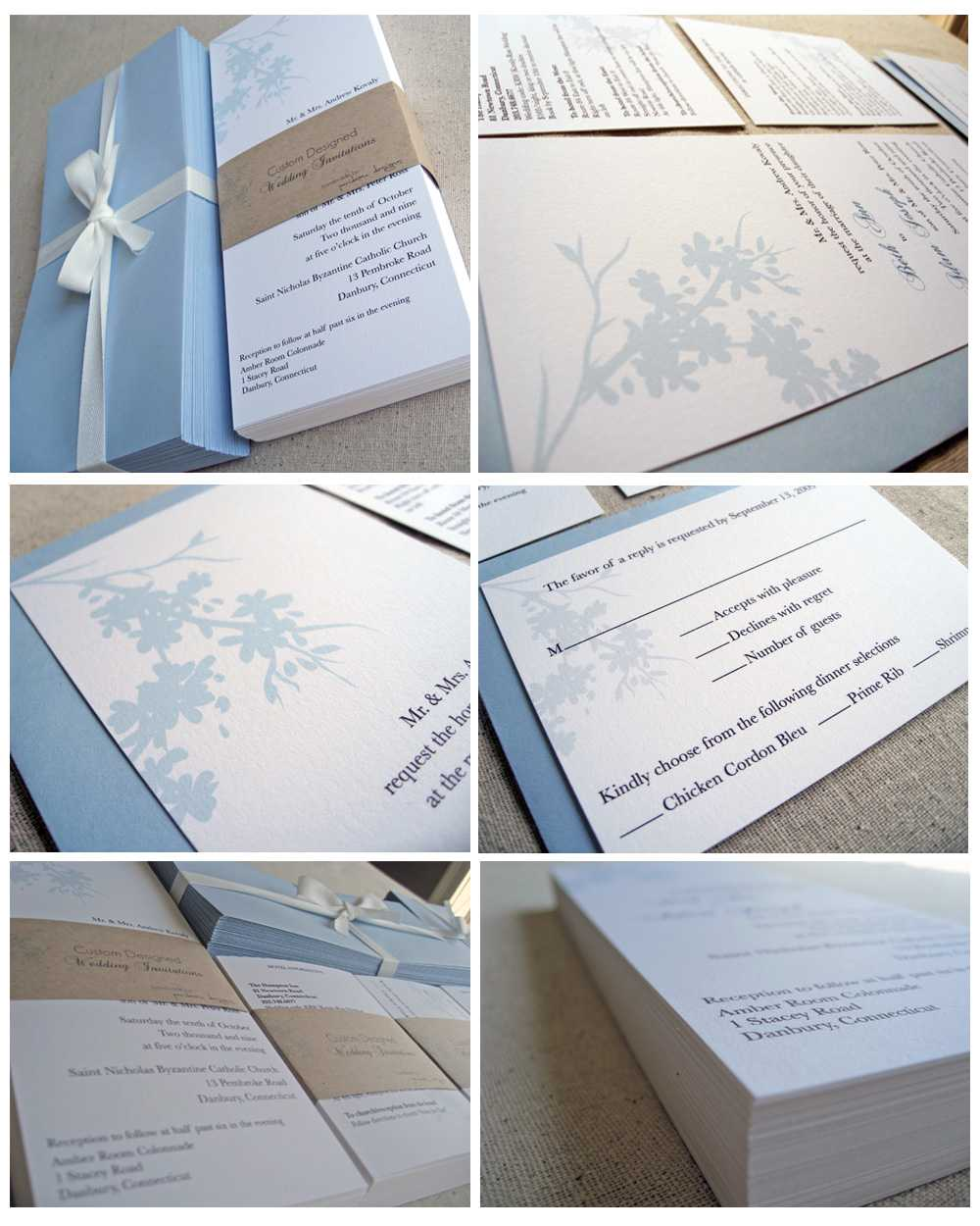 Make Your Own Wedding Invites Kits: Black Wedding Invitations: Wedding Invitation Kits