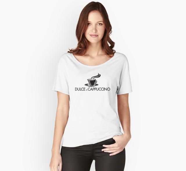 Dulce & Cappuccino parody logo T-shirts